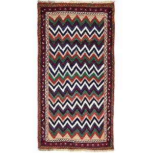 Unique Loom 3' 6 x 6' 5 Shiraz-Gabbeh Persian Rug