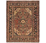 Link to 117cm x 147cm Hossainabad Persian Rug