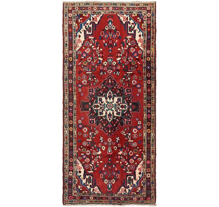 3' 9 x 8' 4 Khamseh Persian Runner ...