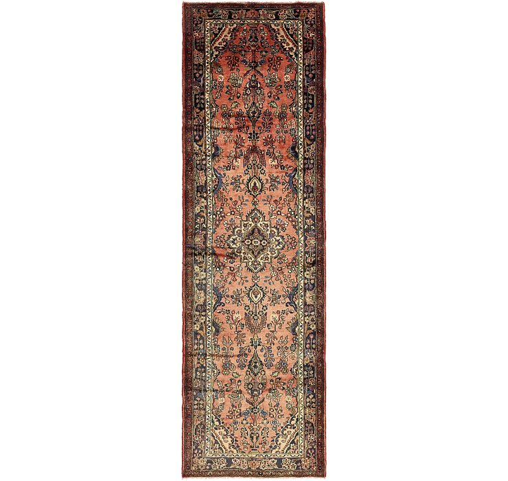 3' 9 x 13' 3 Khamseh Persian Runner ...