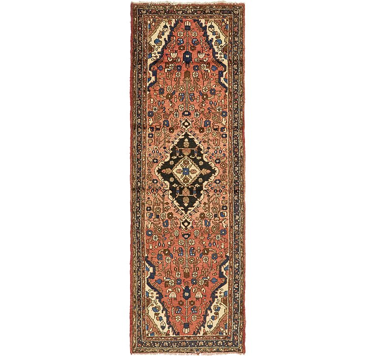 3' x 10' Hamedan Persian Runner ...