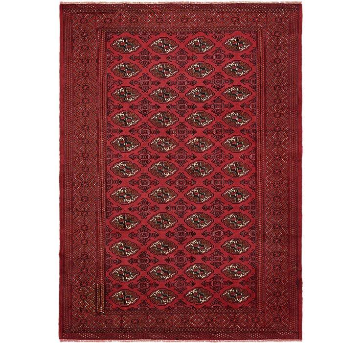 6' 7 x 9' 2 Torkaman Persian Rug