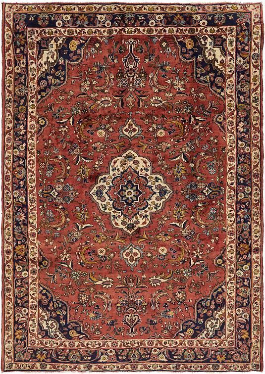 Red 208cm X 292cm Nanaj Persian Rug Persian Rugs Au Rugs
