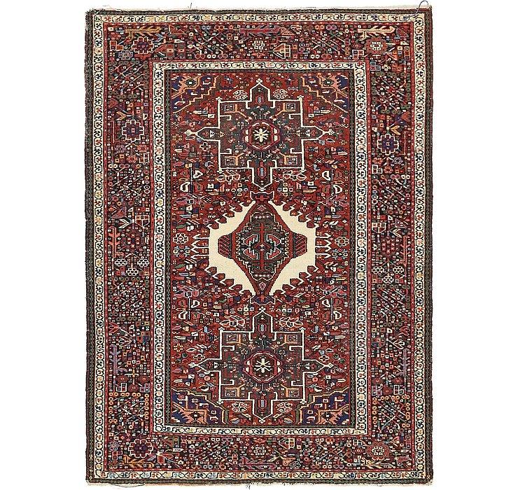 4' 9 x 6' 5 Gharajeh Persian Rug