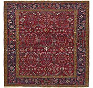 Link to 7' 4 x 7' 4 Heriz Persian Square Rug