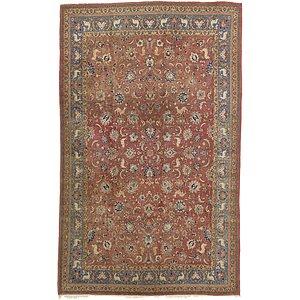 9' x 14' 3 Qom Persian Rug