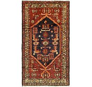 Link to HandKnotted 3' 9 x 7' Zanjan Persian Runner Rug