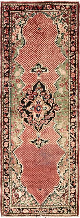 Red 3 8 X 10 5 Farahan Persian Runner Rug Persian Rugs