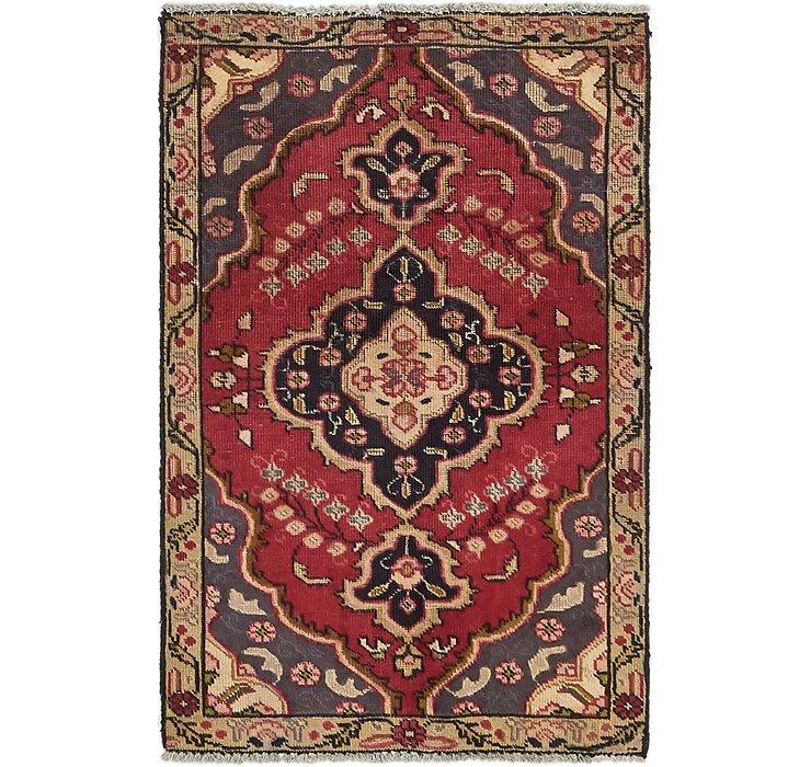 3' x 4' 6 Tabriz Persian Rug