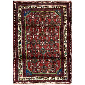 HandKnotted 3' 2 x 4' 8 Hossainabad Persian Rug
