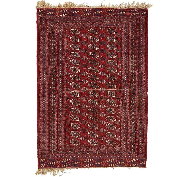 4' 2 x 6' 1 Torkaman Persian Rug