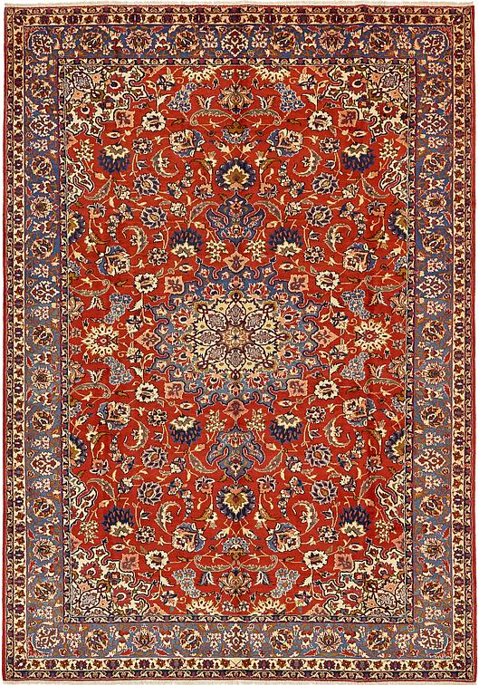 Red 260cm X 373cm Isfahan Persian Rug Persian Rugs Au Rugs