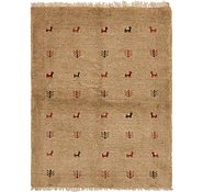 Link to 3' 5 x 4' 5 Shiraz-Gabbeh Persian Rug