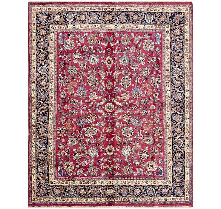 8' x 10' Mashad Persian Rug