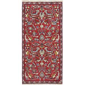 HandKnotted 2' 6 x 5' 3 Mashad Persian Rug