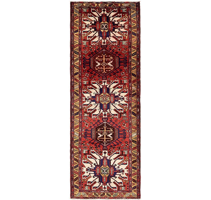 3' 10 x 11' Zanjan Persian Runner Rug