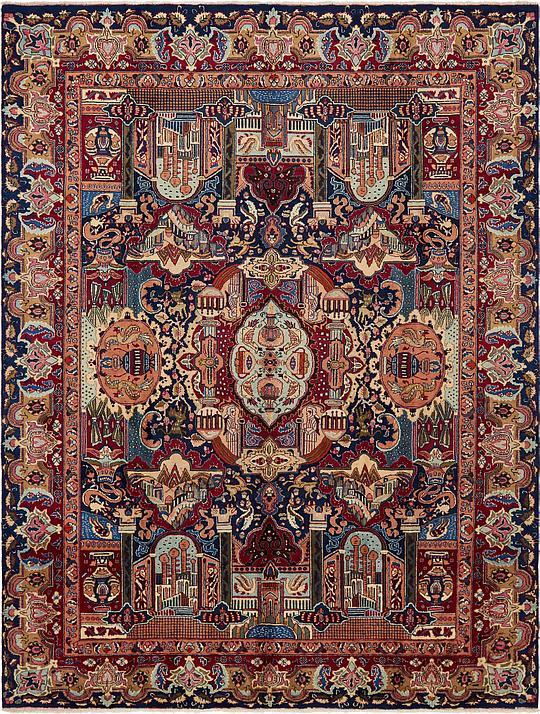 Navy Blue 9 8 X 12 10 Kashmar Persian Rug Persian Rugs
