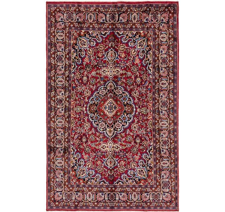 6' 3 x 10' Mashad Persian Rug
