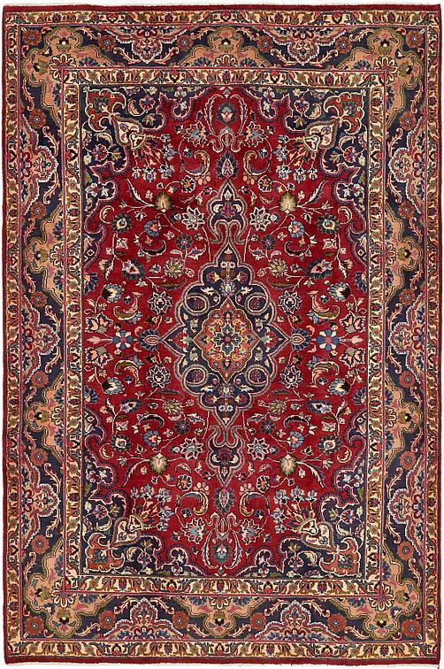 Red 6 7 X 10 Kashmar Persian Rug Persian Rugs Irugs Uk
