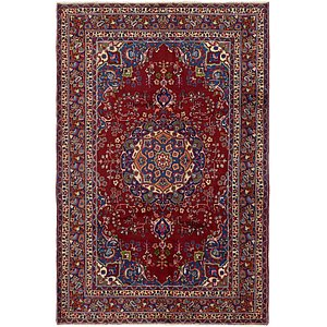 Unique Loom 6' 5 x 9' 8 Mashad Persian Rug