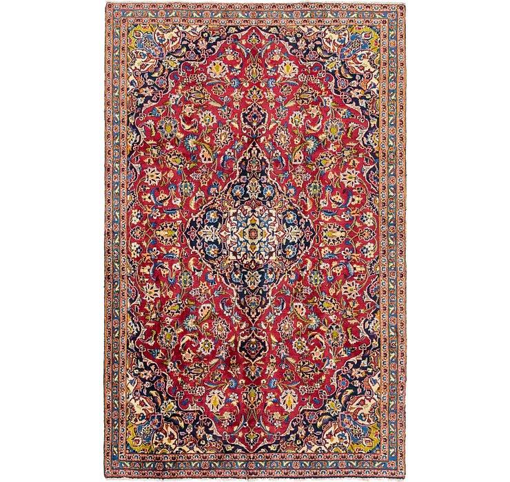 5' 6 x 9' Kashan Persian Rug
