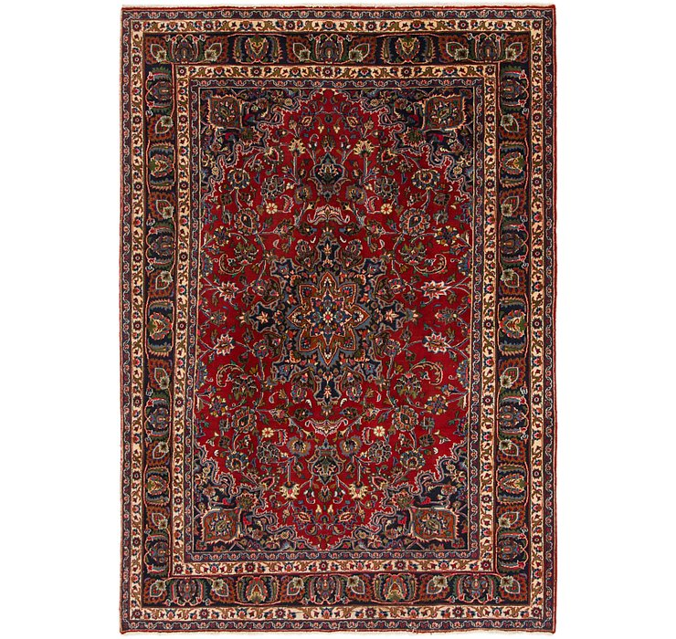195cm x 290cm Mashad Persian Rug