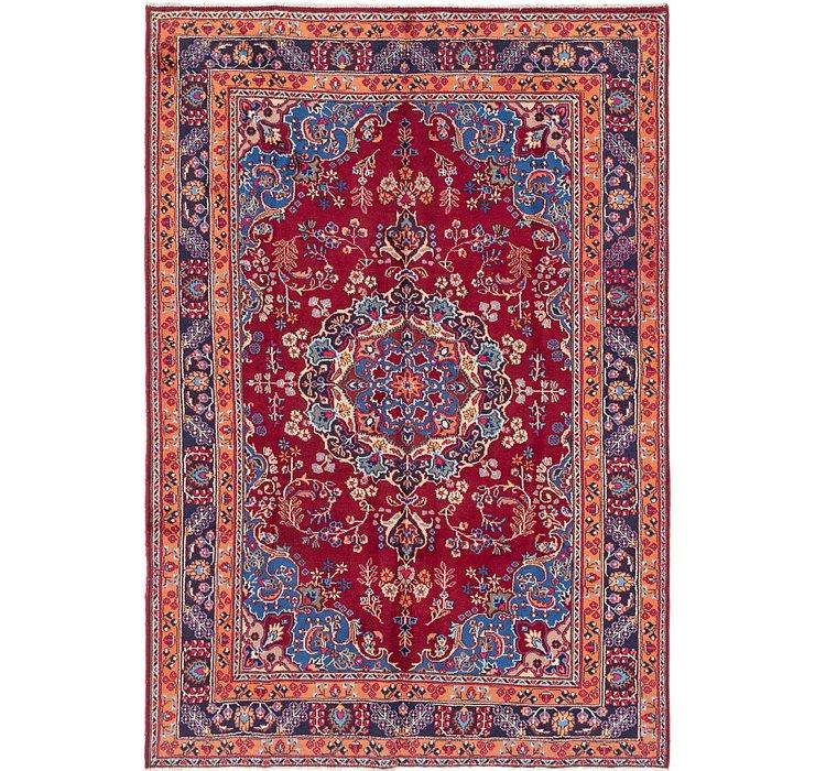 HandKnotted 6' 7 x 9' 7 Mashad Persian Rug