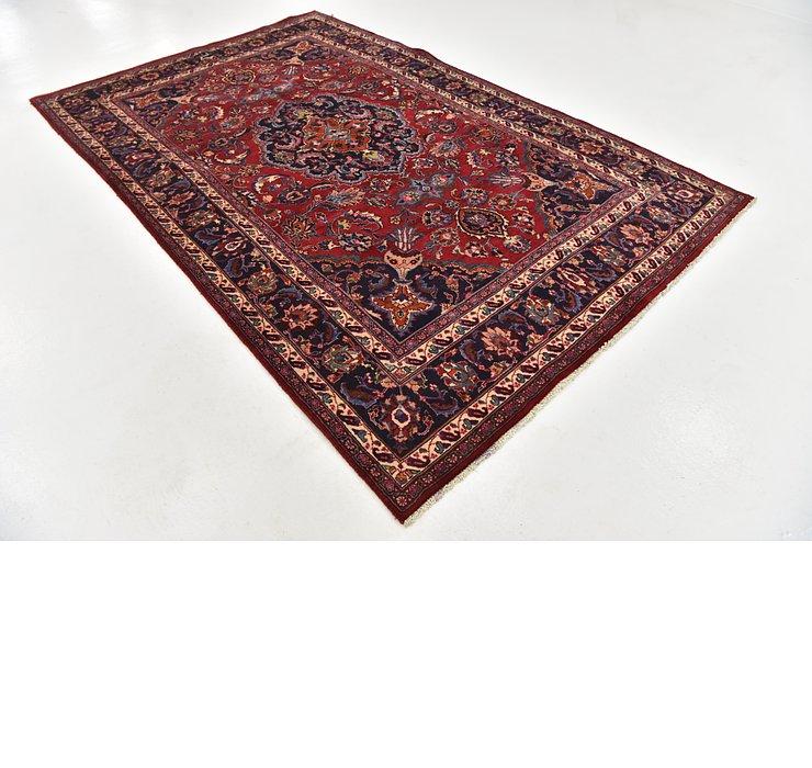 HandKnotted 6' 3 x 9' 9 Mashad Persian Rug