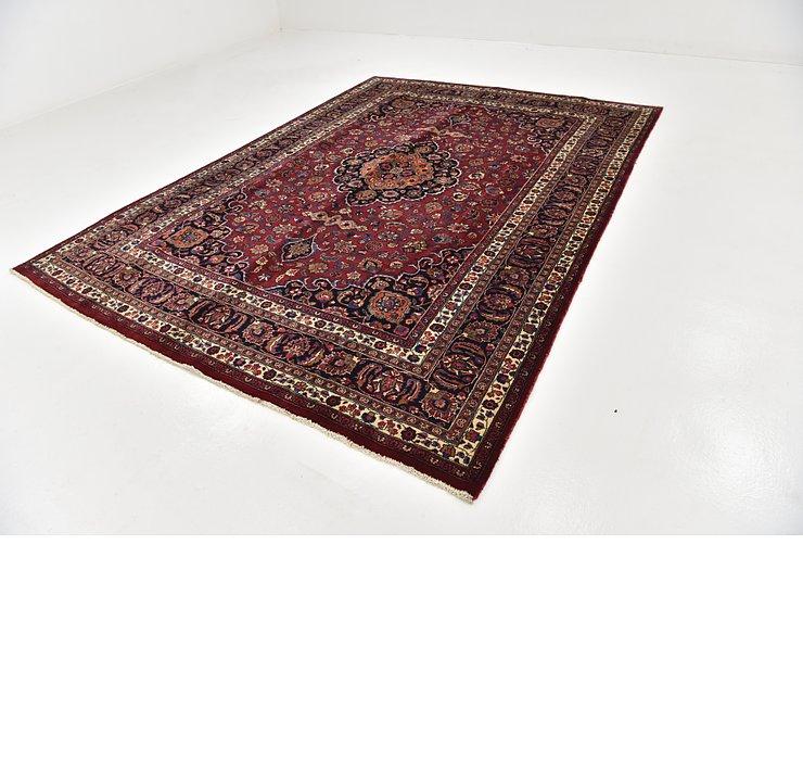 HandKnotted 8' x 11' Mashad Persian Rug