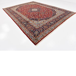 HandKnotted 9' 7 x 13' Kashan Persian Rug