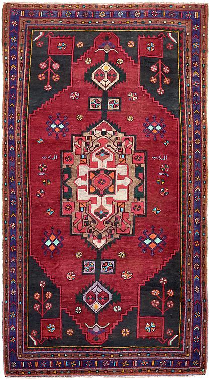 Red 5 2 X 9 6 Hamedan Persian Runner Rug Persian Rugs