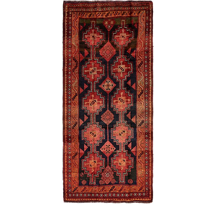 HandKnotted 4' 5 x 9' 9 Shiraz-Lori Persian Run...