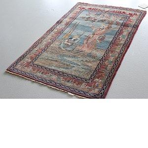 3' 3 x 5' 3 Kashan Persian Rug