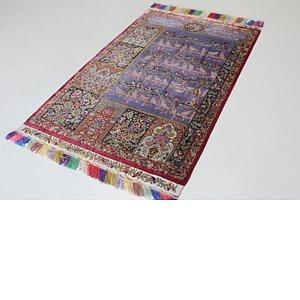 3' 5 x 5' 6 Qom Persian Rug