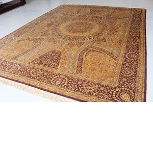 9' 6 x 12' 10 Qom Persian Rug