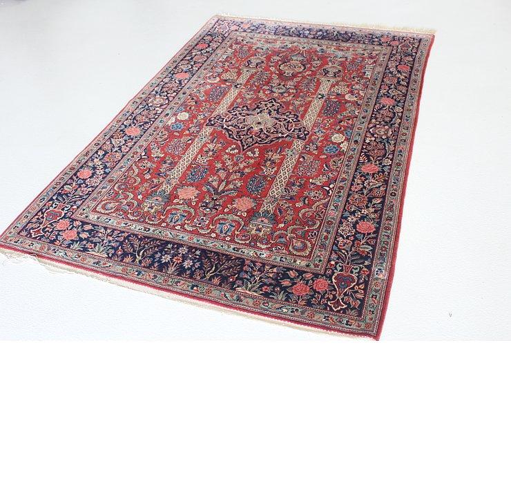 4' 3 x 6' 9 Kashan Persian Rug