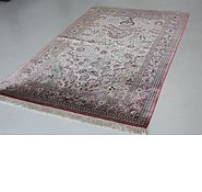 Link to 4' 6 x 6' 11 Qom Persian Rug