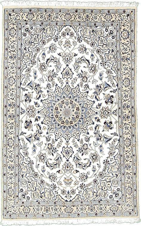 Ivory 3 7 X 5 8 Nain Persian Rug Area Rugs Irugs Uk
