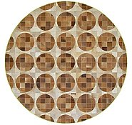 Link to 6' x 6' Cowhide Patchwork Round Rug
