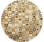 Link to 8' x 8' Cowhide Patchwork Round Rug