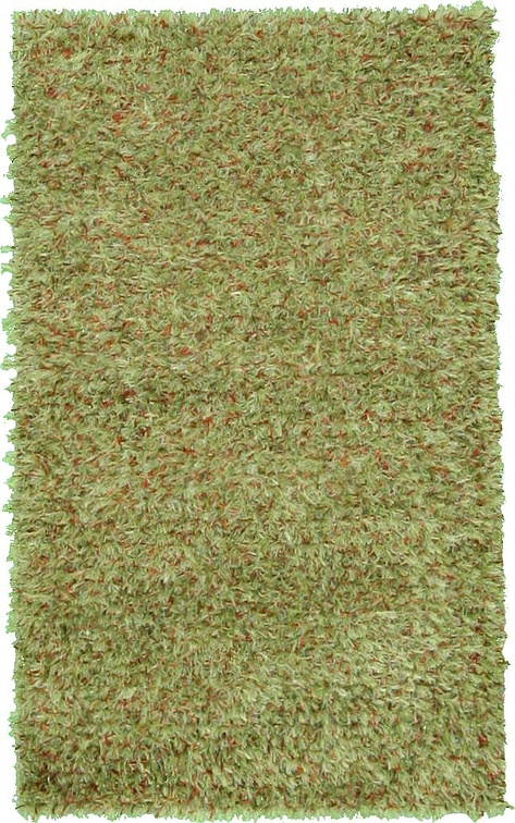 Green  3' x 5' Solid Shag
