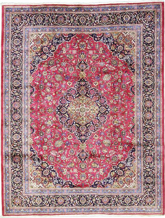 red 9 39 10 x 12 39 7 mashad persian rug persian rugs esalerugs. Black Bedroom Furniture Sets. Home Design Ideas