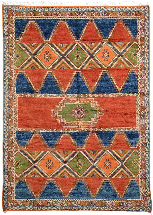 Navy Blue 8 5 X 11 7 Moroccan Rug Oriental Rugs Esalerugs