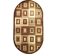 Link to 2' 8 x 4' 9 Reproduction Gabbeh Oval Rug