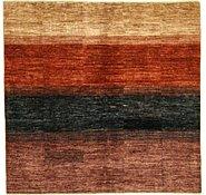 Link to 6' 6 x 6' 8 Striped Modern Ziegler Oriental Square Rug