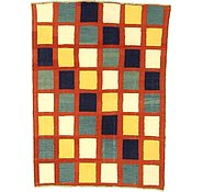 Link to 4' 9 x 6' 4 Checkered Modern Kilim Rug