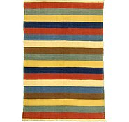Link to 4' 8 x 6' 8 Striped Modern Kilim Rug