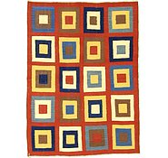 Link to 5' x 6' 10 Checkered Modern Kilim Rug
