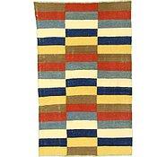 Link to 3' 10 x 6' 1 Striped Modern Kilim Rug
