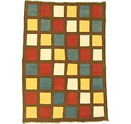 Link to 4' 11 x 7' Checkered Modern Kilim Rug
